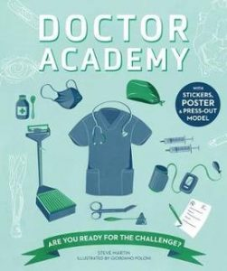 A picture of the Doctor Academy activity book - a great gift idea for a science-mad kid