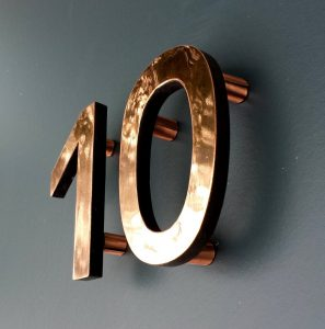 Copper numbers - a lovely unique present idea