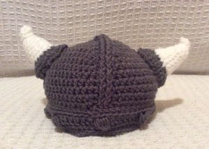 A crocheted Viking helmet - a hilarious and unusual gift idea