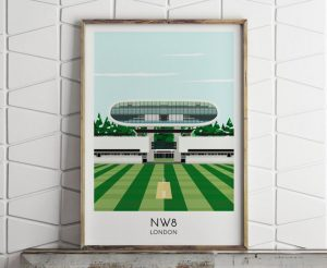 A stylised picture of Lord's Cricket Ground
