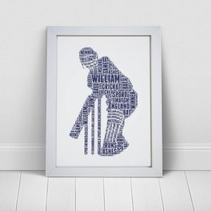 Personalised cricketer picture