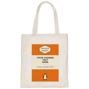 A customised, personalised Penguin Books tote bag - a great gift idea