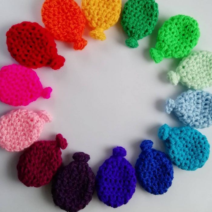 Crocheted balloons are perfect for a water fight!