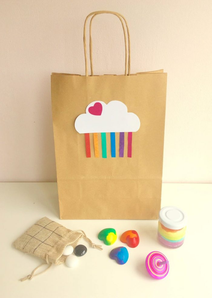 Beautiful, personalised, pre-filled eco-friendly, plastic-free party bags