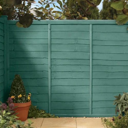 Give your garden a more subtle injection of life, with some sage green fence varnish
