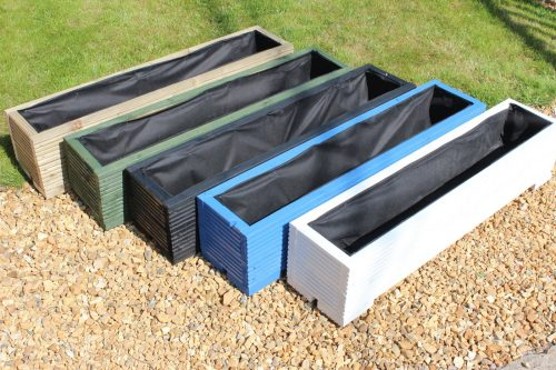 These 1 metre long wooden garden troughs are a beautiful addition to any garden