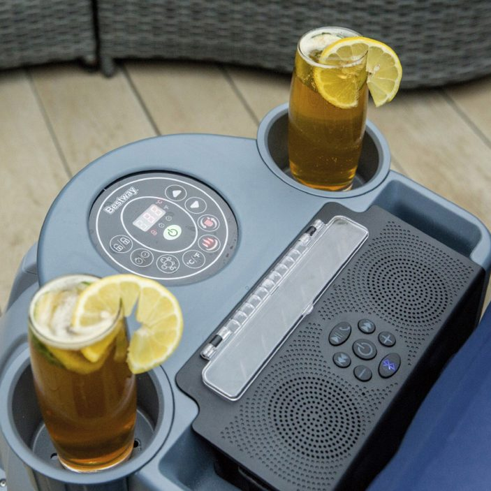 Lay-Z-Spa Entertainment System drinks holder