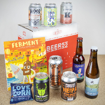 A selection of beers from Beer52 - the beer subscription gift box