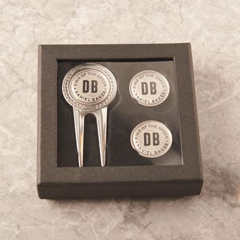 Personalised Three Piece Golf Divot And Marker Set