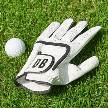 A personalised golf putting glove – with your initials
