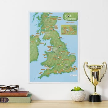 Personalised Scratch Off UK Golf Courses Print